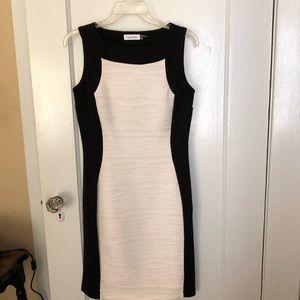 Calvin Klein Black & White Textured Sheath Dress 2